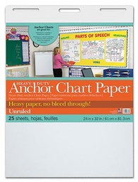 [3371 PAC] 25sht Heavy Duty Anchor Chart Pad Unruled 24 x 32