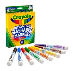[587808 BIN] 8ct Crayola Washable Markers Classic Colors Broad Tip