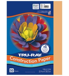 [103010 PAC] 9x12 Salmon Tru-Ray Construction Paper 50ct Pack (103023 PAC)