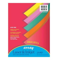 [101049 PAC] 100ct 8.5x11 Array Brights Multipurpose Paper