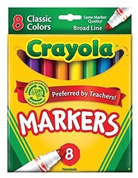 [587708 BIN] 8ct Crayola Classic Broad Line Markers  Pack