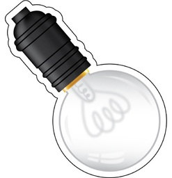 [120544 CD] Industrial Chic Light Bulbs Cut Outs
